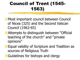 Council of Trent 1545-1563