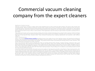 Commercial vacuum cleaning company from the expert cleaners1