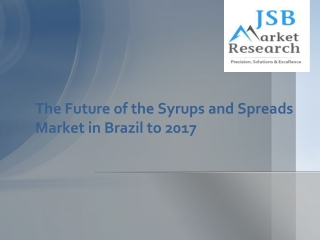 The Future of the Syrups and Spreads Market in Brazil to 201
