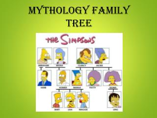 Mythology Family Tree