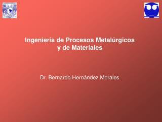 Ingenier a de Procesos Metal rgicos y de Materiales