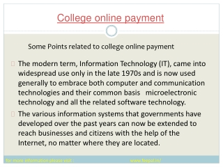 Latest news  Related to how to submited college online payme