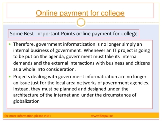 best website for online pament for school