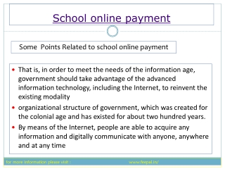 Feepal provide eassy way submited school online payment