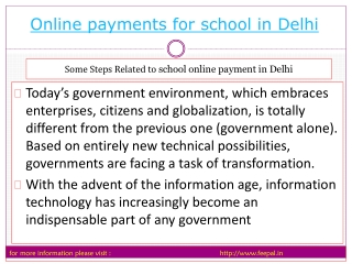 How to submited online payment for school in Delhi