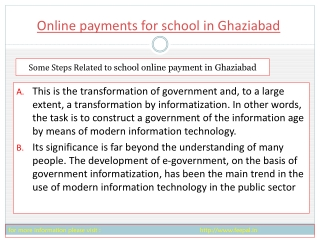 some information of online payment for school in Ghaziabad