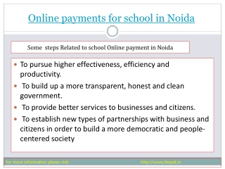 Best sites of online payment for school in Noida