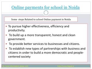 Best sites of online payment for school in Noida