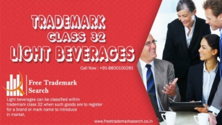 Trademark Class 32 | Light Beverages