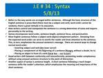 J.E  34 : Syntax 5