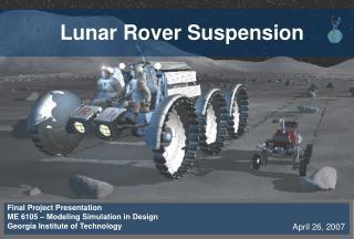 Lunar Rover Suspension