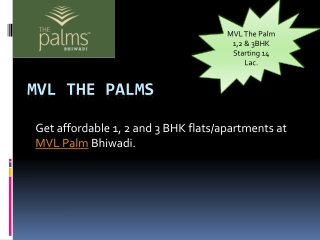 Affordable Apartments MVL The Palms