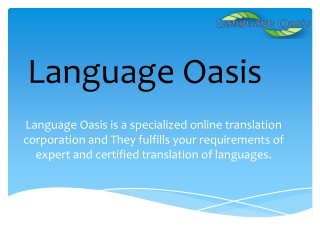 Where To Find Language Oasis Translation Service