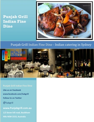 Punjab Grill Indian Fine Dine - Indian catering Sydney
