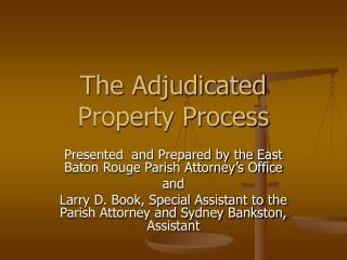 the adjudicated property process