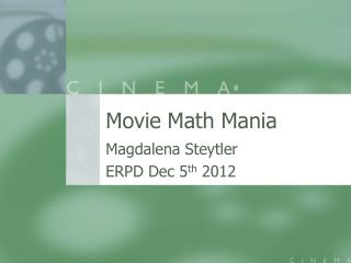 Movie Math Mania
