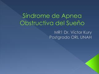 Apnea obstructiva del sue??o
