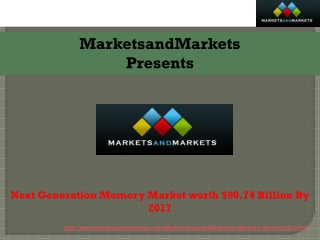 Research Report on Next Generation Memory Market