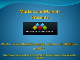 World Service Robotics Market by 2017