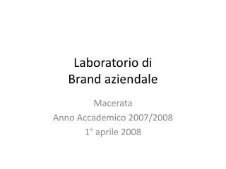 Laboratorio di  Brand aziendale