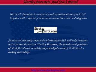 Hartley Bernstein and Stock Patrol