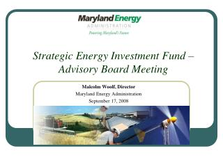 Strategic Energy Investment Fund    Advisory Board Meeting