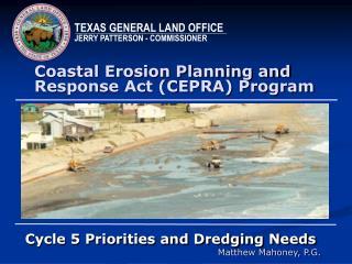 Coastal Erosion Planning and Response Act CEPRA Program