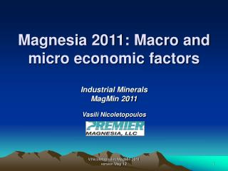 Magnesia 2011: Macro and micro economic factors