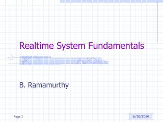 Realtime System Fundamentals