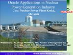 Oracle Applications in Nuclear Power Generation Industry
