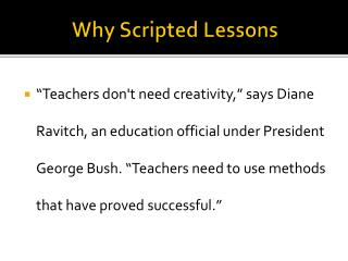 Why Scripted Lessons