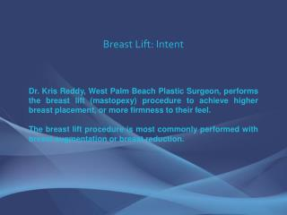 Breast Lift - Dr. Kris Reddy FACS