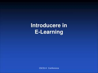 Introducere  n  E-Learning