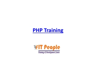 PHP/MySQL Training Course in Delhi, India by IT People