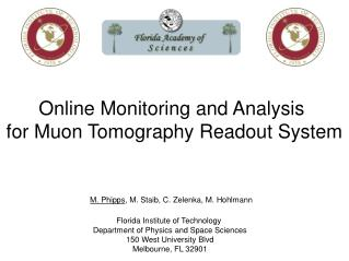 Online Monitoring and Analysis  for Muon Tomography Readout System