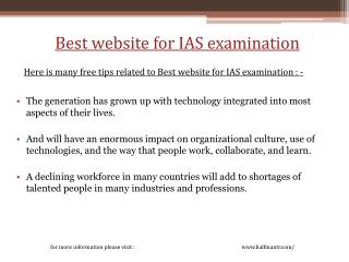 Best Website for IAS Examination