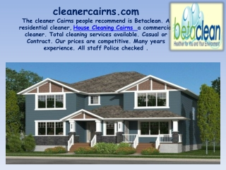 House Cleaning Cairns