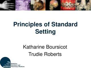 Principles of Standard Setting