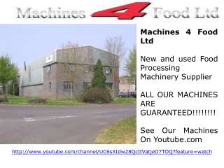 Manufacturer of Reliable Food Machines