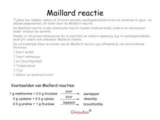 Maillard reactie