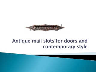 Antique Mail Slots for Doors