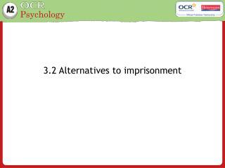 3.2 Alternatives to imprisonment