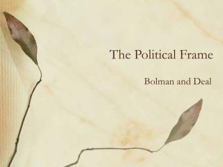 The Political Frame
