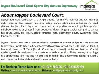 Jaypee Boulevard Court @
