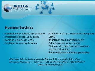 Instalaci n de cableado estructurado  Instalaci n de redes voz y datos  Asesor a y dise o de redes  Traslados de centros