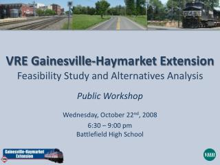 VRE Gainesville-Haymarket Extension