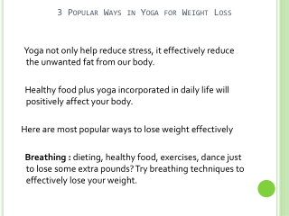 Is Yoga An Effective Way Of Losing Weight