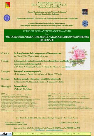 Assessorato Regionale per la Sanit  Dipartimento Osservatorio Epidemiologico Regionale Dirigente Generale: Dott. A. Mira