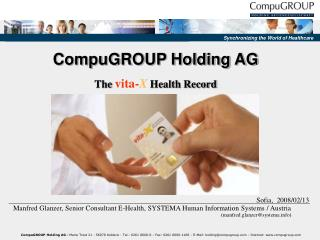 CompuGROUP Holding AG The vita-X Health Record