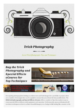 Trick Photography eCourse Purchase a Great Investment